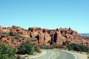 Arches National Park - Panorama dalla strada