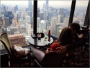 Panorama dal ristorante del piano 95 del Room at the 95th - John Hancock Center