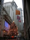 Decorazioni di Natale in Wall Street
