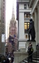 Wall Street - Trinity Church  e statua di George Washington