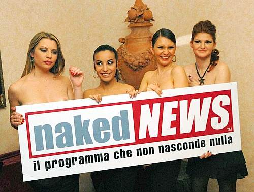 Resultado de imagen para naked news, italia