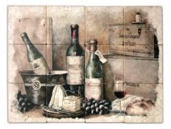 Murale con bottiglia di Amarone
