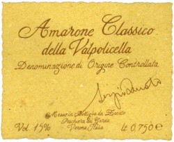 Etichetta di uno storico Amarone