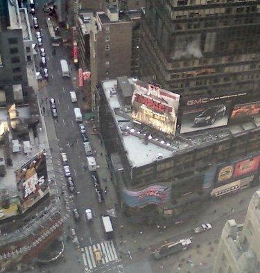 Hulk Hogan promoziona la TNA a New York a Times Square